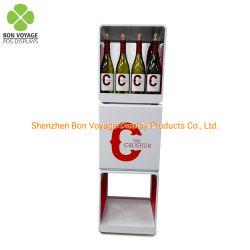 Venta de pisos de metal personalizados POS vino botella de licor de soporte de pantalla