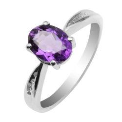 Los anillos de joyería de plata Amatista (GR0018)