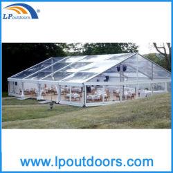 خيمة حدث من الألومنيوم الشفاف بسقف من الفينيل المتعدد الفينيل تمتد على مساحة 12 م في الهواء الطلق مهرجان البيرة لـ 300 شخص