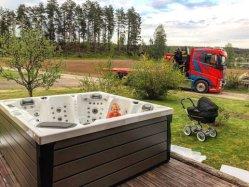 2020 Hot Sale luxueux bain à remous spa avec Jacuzzi en plein air nager Whirlpool
