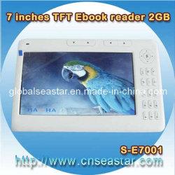 Nieuwe 7 van TFT Duim van het Geheugen van de Lezer Ebook 2GB, Gift Ebook (s-E7001)