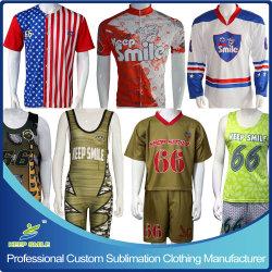 Le Vêtement de sport de sublimation personnalisé pour la crosse, cyclisme, le baseball, hockey, Wresting, etc.