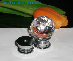30mm bouton de porte en verre en cristal (JD-KN-A3010)
