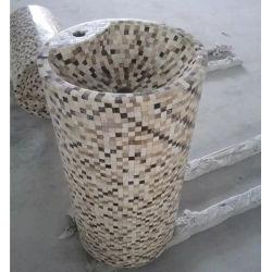 Socle de granit naturel/bassin en pierre de marbre/puits pour salle de bains Meubles du bassin
