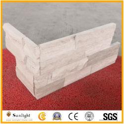 Billes de bois blanc de la culture des pierres d'ardoises pour revêtement mural/Panneaux muraux