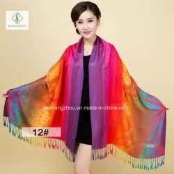 De Sjaal van Pashmina van de Manier van de Sjaal van de Jacquard van de Gradiënt van de Cachou van de Stijl van Nepal