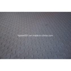 Ss400 Q235B A36 لوحة فولاذية ذات مربعات
