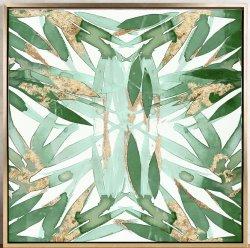 Bambus lässt Öl-Abbildung mit HP für Wand-Kunst GF-P19052232
