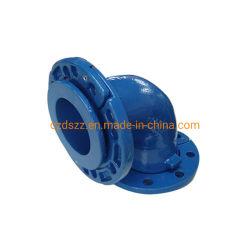 鋳鉄En545 Gjsの青いエポキシの上塗を施してある緩いフランジ90度のくねりの肘の鋳造