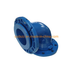 Чугун En545 Gjs синий эпоксидным покрытием ослабление фланец 90-градусного изгиба песок литой детали