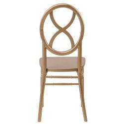 椅子を食事する金カラースタック可能木製のChiavari Sandglass