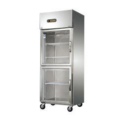 La refrigeración directa de fábrica Kithen nevera congelador para el café carne Pizza
