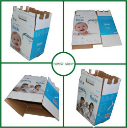 Двойные стенки гофрированный доставка очищенной воды картонная коробка для упаковки