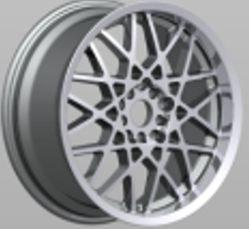 Le polonais Hyper argent/noir chromé pleine Surface d'usinage de la lèvre d'aluminium peint des jantes de roues en alliage de répliques de voiture 16X7.0 17X7.5 18X8.0 19X7.5 19X8.5 19X5.0 20X9.0
