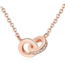 Les couples aime les femmes Bijoux Argent 925 Collier pendentif