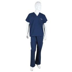 V-Pescoço Pessoal Uniforme Hospitalar Médicos Uniforme de trabalho e uniformes