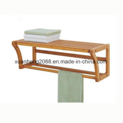 Roupas de bambu Cavalete Fold-Able roupas penduradas Rack