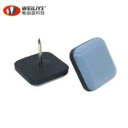 Prego na cadeira de Teflon Mobiliário Pernas planadores, Square sliders de Teflon, unhas de PTFE desliza