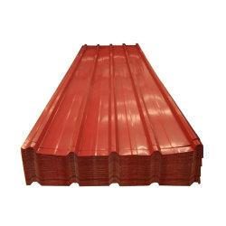 [بويلدينغ متريل] [بّج] [بّغل] كسا لون [ألو-زينك] سبيكة يكسى حديد معدن سقف صفح [بربينت] يغلفن [غلفلوم] يغضّن فولاذ تسليف صفح في غانا