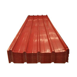 PPGI certificat CE des matériaux de construction en alliage de zinc enduit de couleur du panneau de toit de tuiles en acier ondulé galvanisé prélaqué fer Feuille de toiture en métal au Ghana