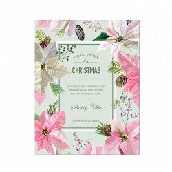 De Witte Kaarten van uitstekende kwaliteit van de Groet van Kerstmis van het Karton Creatieve Vouwbare Leuke