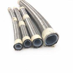 Haute température Convuluted flexible en acier inoxydable de l'alésage du tuyau flexible en téflon