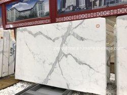 Em mármore branco Calacatta natural para parede/ladrilhos do piso/bancada