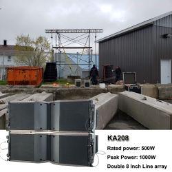 Outdoor son système de haut-parleur audio professionnel Ka208 matrice double ligne de 8 pouces