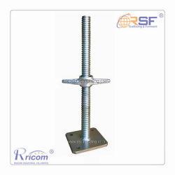 L'acier galvanisé échafaudage solide base de la vis de cric réglable