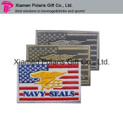La Bandera Nacional teje personalizada plancha sobre parche bordado Badge
