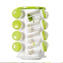 تابل مرطبان فلفل رجّاجة صندوق تابل علب فلفل ملح [كروت] بلاستيكيّة زجاجة مطبخ يرجّ [سبيس رك] [26بكس] محدّد+[1بك] من حامل
