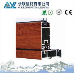 Het houten Korrel Gebeëindigde Aluminium van de Uitdrijving voor het Raamkozijn van het Aluminium