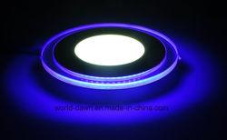 Borda azul 2 LED de cores de luz do painel interior