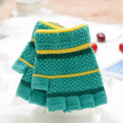 2017 Winter-Form-Kind-nette kurze Plüsch-Handschuhe, halber Finger-kundenspezifische warme preiswerte Großhandelskinder gestrickt