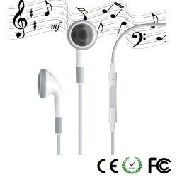 Наушники с микрофоном и регулятор громкости для iPhone 4S
