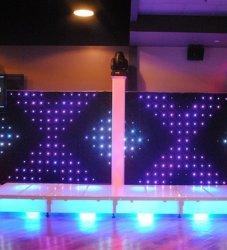 Fase de Cortina de LED pano de tela LED gigante grandes ecrãs LED