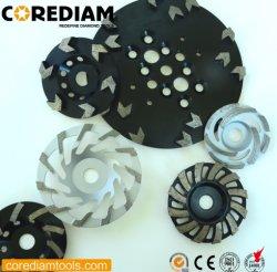 5 Polegada Diamond Copa Moagem Turbo Rodas/Esmerilhamento Roda Copa/Ferramenta de Diamante