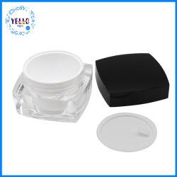Acrílico Quadrado personalizado 30g de creme contentor jarros de cosméticos