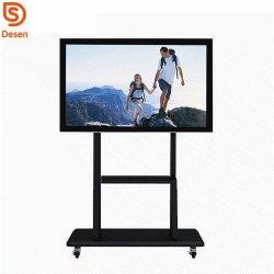 85inch-de-chaussée de l'équipement éducatif permanent de la carte numérique à puce 10 points de tableau blanc interactif à écran tactile IR