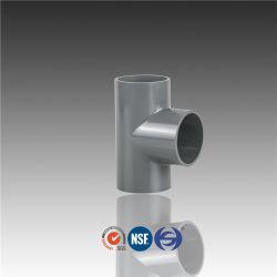 T di plastica del tubo del PVC con i montaggi ad alta pressione