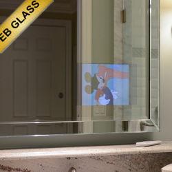 Eb Le Miroir magique de la marque de verre verre derrière le miroir, TV, TV dans les miroirs, étanche de la télévision, téléviseur miroir pour salle de bains, TV à 2 voies cachées derrière un miroir, miroir magique