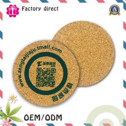 cadeau de promotion Factory Direct tapis logo personnalisé Cup Cork Coaster