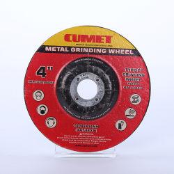 4''قرص عجلة التجليخ للمعدن Inox (100X6X22,2 مم) كاشط مع شهادات MPA