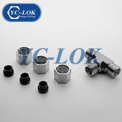 Unión en T de acero inoxidable de casquillos adaptadores tubo hidráulico