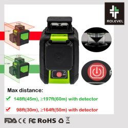 Multi riga verde mini livello trasversale Self-Leveling dell'automobile del laser 360