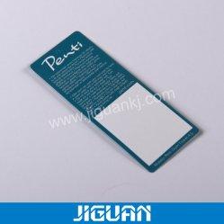 Hangtag del tessuto del panno stampato abitudine di alta qualità della fabbrica