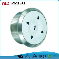 LED에 의하여 분명히되는 방수 누름단추식 전쟁 항법 스위치