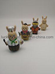 O plástico 3D figuras de coelho de vinil Coelhos Cartoon Figuras Brinquedos