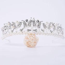 Nouvelle entrée Tiaras mariée bijoux de mode en alliage de couronne pour le commerce de gros