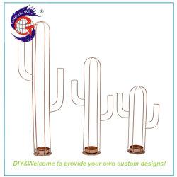 메탈 Cactus Shape 캔들 홀더 주방 전용 라벨 여성 선물 세트